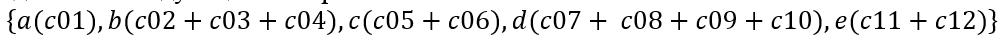 matching formulas